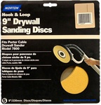 "Norton 9"" WallSand Hook & Loop Sanding Disc 120 Grit Fine 15 Pack 2464"