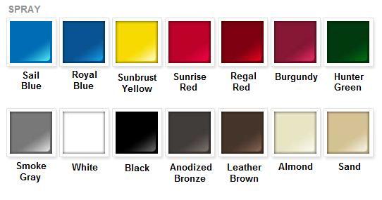 Rustoleum Metal Paint Color Chart