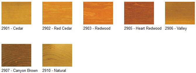 Sikkens Cetol Color Chart