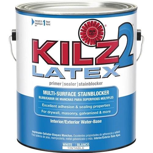 Kilz 2 latex primer sealer for Latex paint over oil paint