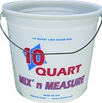 Plastic Mix & Measure 10 Quart Ringfree Pail