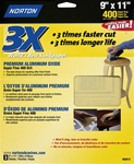 "Norton 9"" x 11"" 3X High Performance Sandpaper 3 Pack"