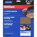 "Norton 9"" X 11"" Multisand All Purpose Sandpaper"