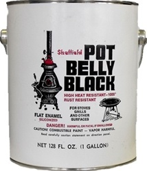 Sheffield Pot Belly Black High Heat Paint