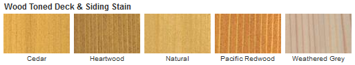 Cabot Wood Toned Deck & Siding Stain Color Chart