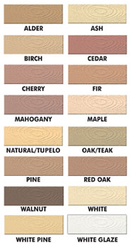 Famowood Color Chart