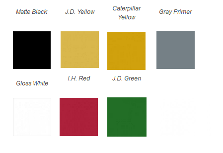 Majic Tractor Color Chart