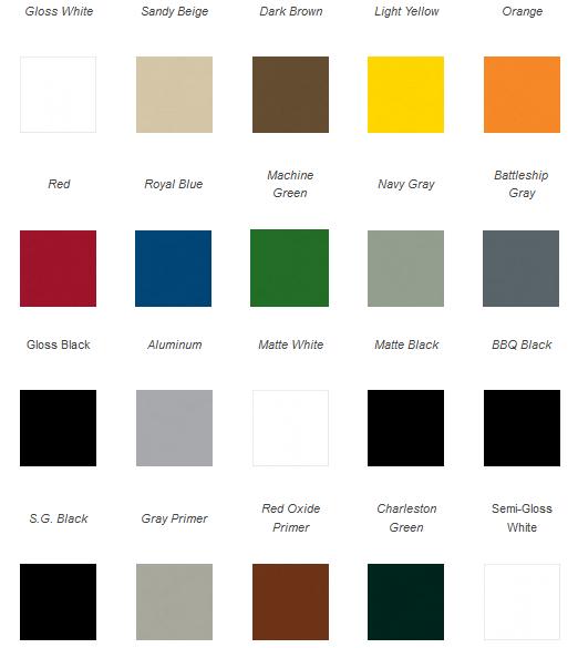 majic rust kill enamel color chart