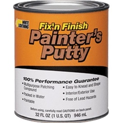 white lightning fix 39 n finish painter 39 s putty quart 08116. Black Bedroom Furniture Sets. Home Design Ideas