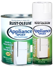 remove rust from refrigerator exterior rust oleum appliance epoxy spray